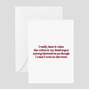 Voices In My Head Greeting Card