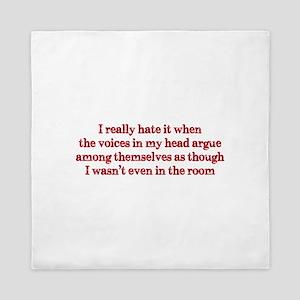 Voices In My Head Queen Duvet