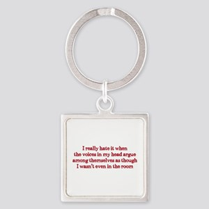 Voices In My Head Square Keychain