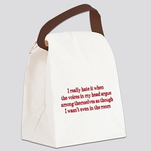 Voices In My Head Canvas Lunch Bag