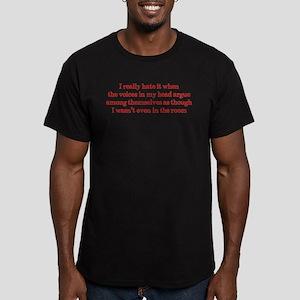 Voices In My Head Men's Fitted T-Shirt (dark)