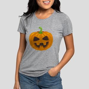 Jack-O-Lantern Emoji Womens Tri-blend T-Shirt