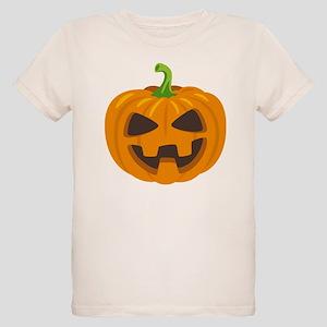 Jack-O-Lantern Emoji Organic Kids T-Shirt