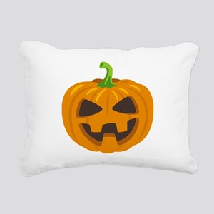 Jack-O-Lantern Emoji Rectangular Canvas Pillow
