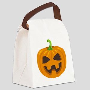 Jack-O-Lantern Emoji Canvas Lunch Bag