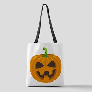 Jack-O-Lantern Emoji Polyester Tote Bag