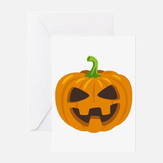 Jack-O-Lantern Emoji Greeting Card