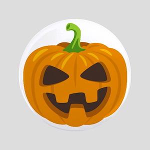 "Jack-O-Lantern Emoji 3.5"" Button"