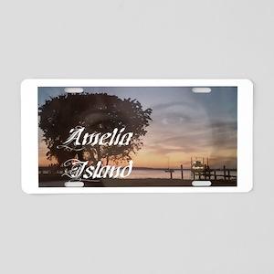 Amelia Island Marina Aluminum License Plate