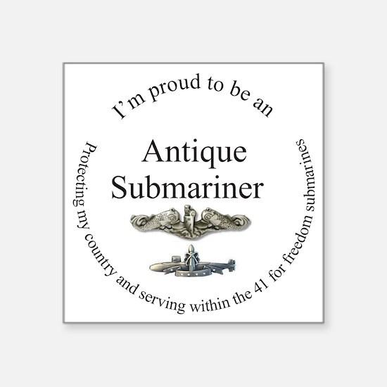 "Antique FBM sailor Square Sticker 3"" x 3"""