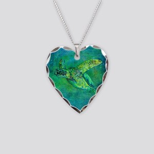 Silent Journey Necklace Heart Charm