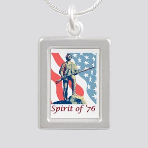 Spirit of '76 Silver Portrait Necklace