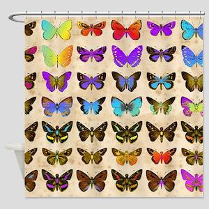 Rainbow Butterflies 2 Shower Curtain