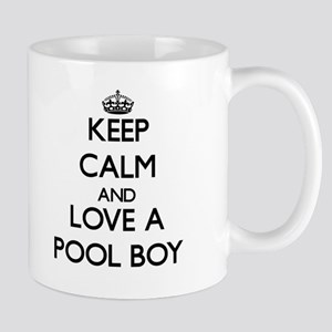 Keep Calm and Love a Pool Boy Mugs