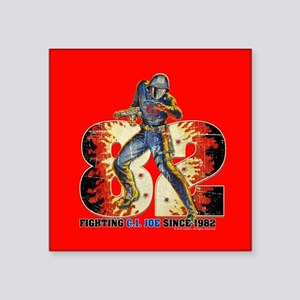 "G.I. Joe Cobra Commander Square Sticker 3"" x 3"""