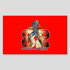 G.I. Joe Cobra Commander Sticker (Rectangle)