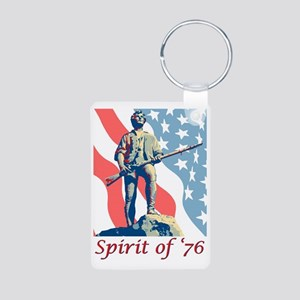 Minute Man Aluminum Photo Keychain