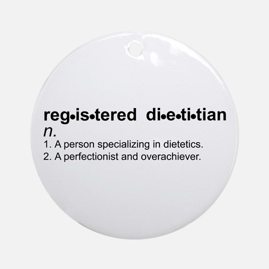 Registered Dietitian Ornament (Round)