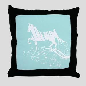 Trotting Horse Throw Pillow