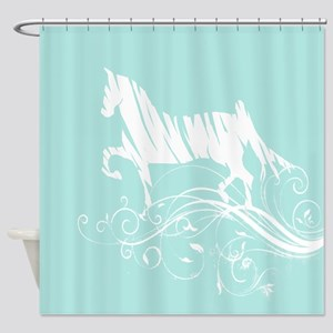 Trotting Horse Shower Curtain