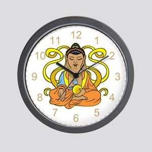 Buddha Flowing Energy Wall Clock