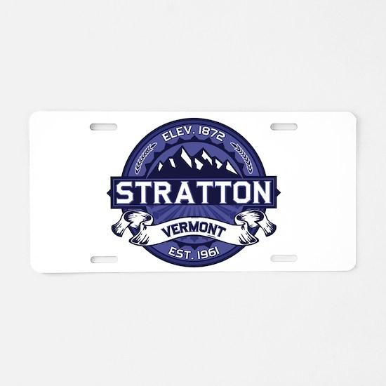 Stratton Midnight Aluminum License Plate