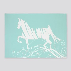 Trotting Horse 5'x7'Area Rug