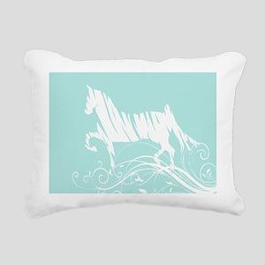 Trotting Horse Rectangular Canvas Pillow