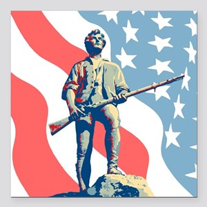 "Patriot Square Car Magnet 3"" x 3"""
