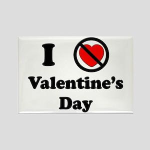 I Don't Love V-Day Rectangle Magnet