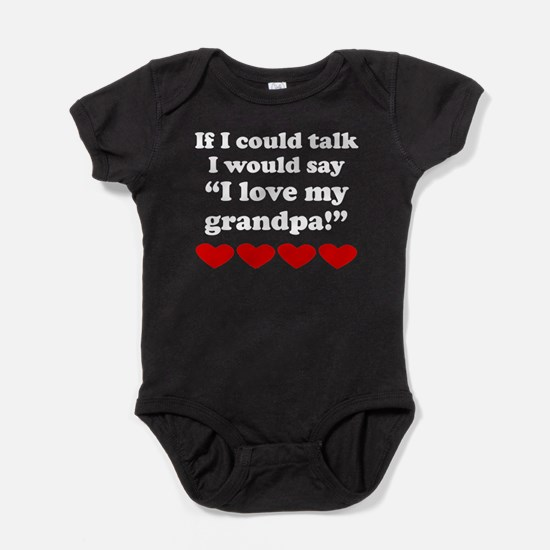 I Love My Grandpa Baby Bodysuit