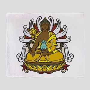 Medicine Buddha Throw Blanket