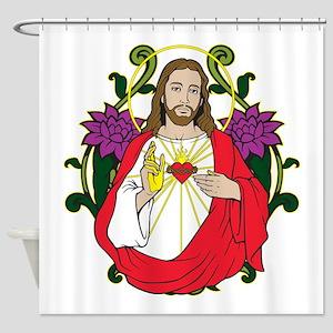 Sacred Heart Jesus Christ Shower Curtain