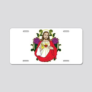 Sacred Heart Jesus Christ Aluminum License Plate