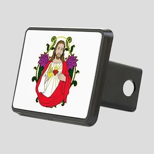 Sacred Heart Jesus Christ Rectangular Hitch Cover