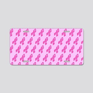 Breast Cancer Awareness Rib Aluminum License Plate
