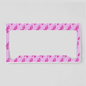 Breast Cancer Awareness Ribbo License Plate Holder