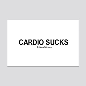 Cardio Sucks / Gym humor Mini Poster Print