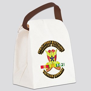 9th Support Bn w SVC Ribbon Canvas Lunch Bag