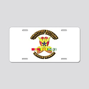 9th Support Bn w SVC Ribbon Aluminum License Plate