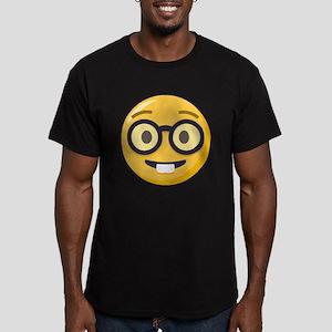 Nerd-face Emoji Men's Fitted T-Shirt (dark)