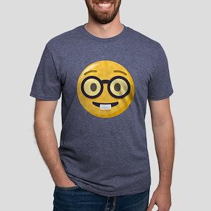 Nerd-face Emoji Mens Tri-blend T-Shirt