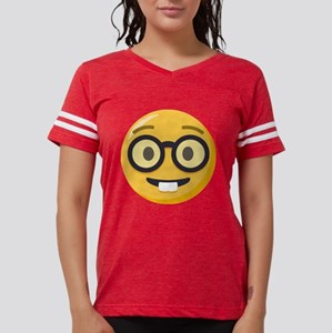 Nerd-face Emoji Womens Football Shirt