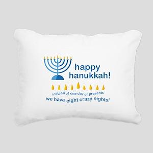 Happy Hanukkah Rectangular Canvas Pillow