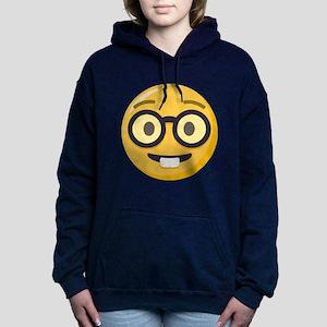 Nerd-face Emoji Women's Hooded Sweatshirt