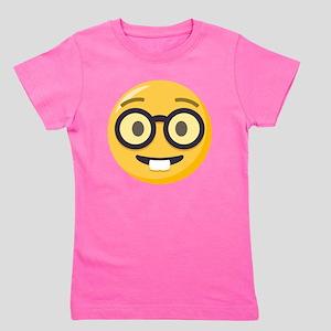 Nerd-face Emoji Girl's Tee