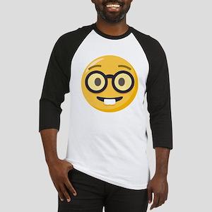 Nerd-face Emoji Baseball Tee