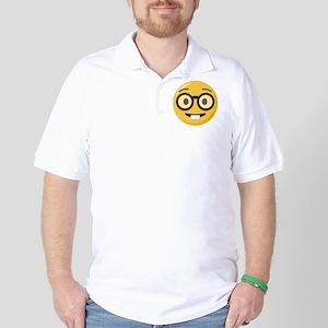 Nerd-face Emoji Polo Shirt