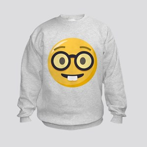Nerd-face Emoji Kids Sweatshirt