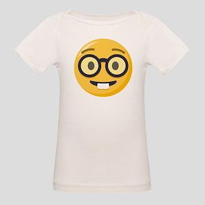 Nerd-face Emoji Organic Baby T-Shirt